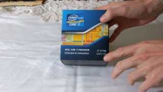 Intel Core I7 3770 Ivy Bridge Processor Unboxing [Ro]