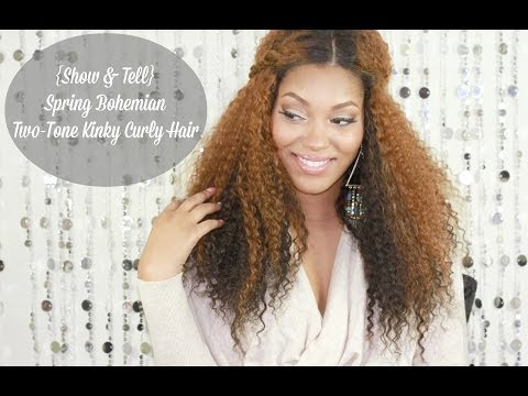 {Show & Tell} Spring Bohemian Hair | RPGShow Two-Tone Kinky Curly Unit