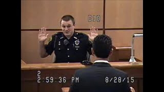 Watch and Learn how to Stun & Rattle a Cop under Oath in a Very Stern Cross Examination Battle