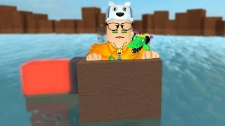 ROBLOX: THE BATTLE OF CARDBOARD BOXES IN THE WATER! -Jouer vieil homme