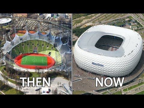 Bundesliga Stadiums Then & Now