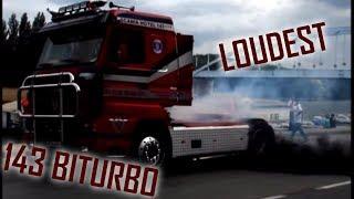 """LOUDEST Scania 143M """"500"""" V8 biturbo BURNOUT 2k12"""