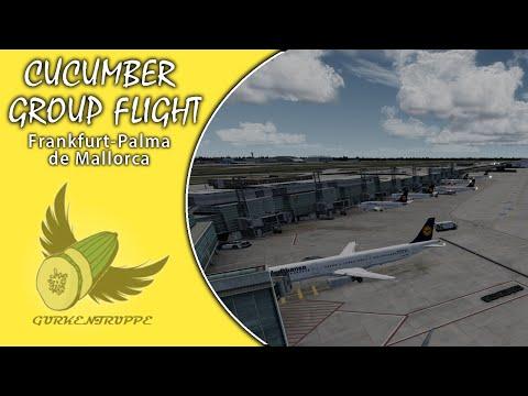 [CUCUMBER GROUP FLIGHT] DLH4SW | Frankfurt-Palma de Mallorca | A320 | IVAO | [DEUTSCH/GERMAN]