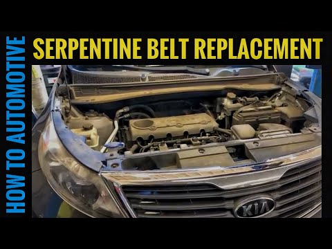 How to Replace the Serpentine Belt on a Kia Sportage with 2.4 L Engine