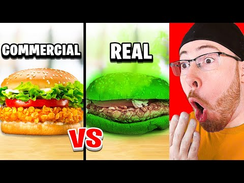 FOOD IN COMMERCIALS VS IN REAL LIFE!