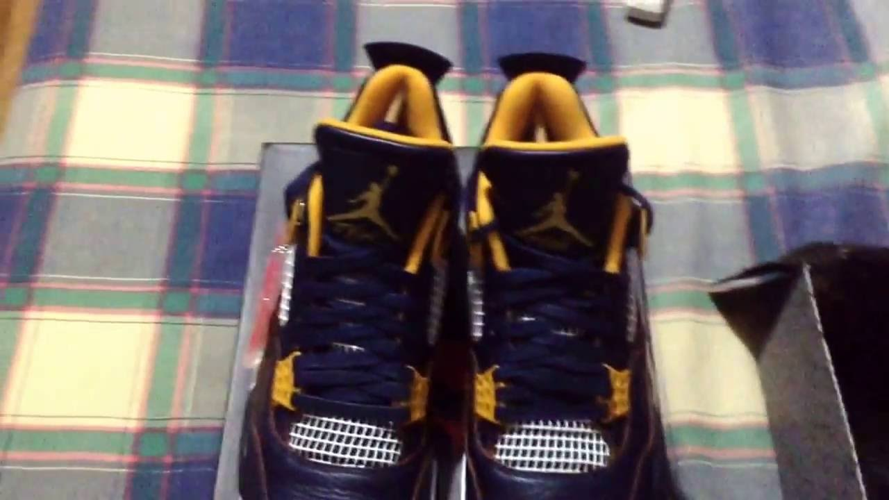 Air jordan retro 4 dunk from above unboxing/review