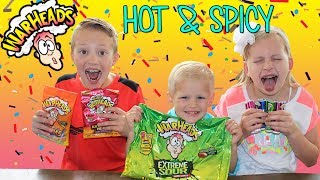 WARHEADS CHALLENGE with SPICY HOT GROSS Gummy Worms!