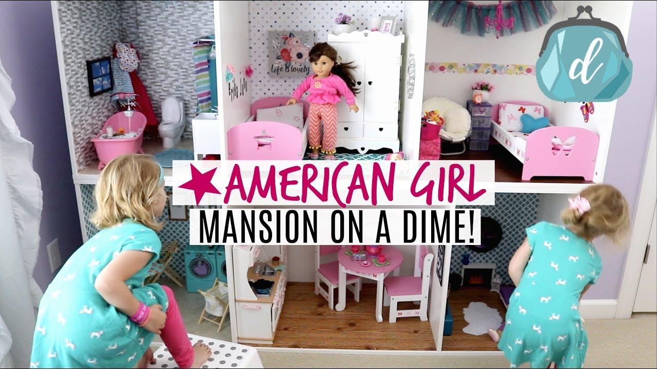 Huge Dollar Tree Ikea Build American Girl Doll House Diy Tour