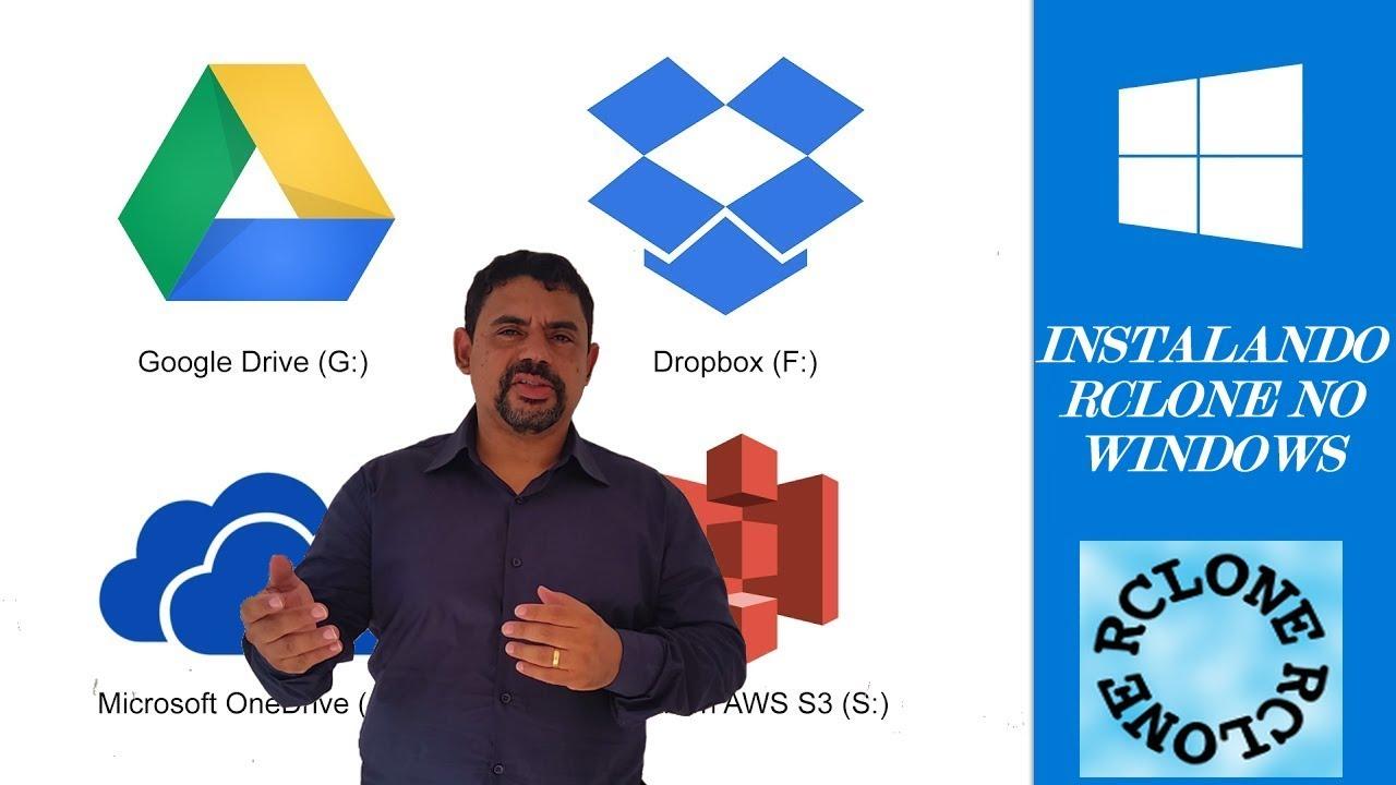 Como Instalar o Rclone no Windows com Google Drive e Drive de Equipes