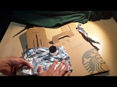 INSIDE Starbucks 96 oz party Travel size container!!! UPCYCLE IT!