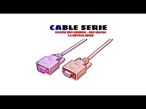 Video de Cable serie null modem DB9 hembra -DB9 macho 1.8 M Beige