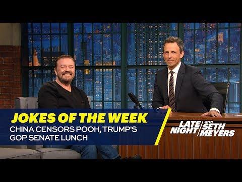 Seth's Favorite Jokes of the Week: China Censors Pooh, Trump's GOP Senate Lunch