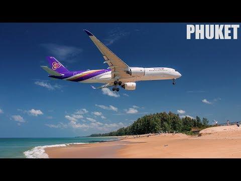 Phuket Airport Spotting, Mai Khoa Beach, Thailand 2017