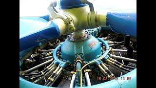Работа звездообразного двигателя АШ-62ИР (1000 л.с.) на самолёте Ан-2