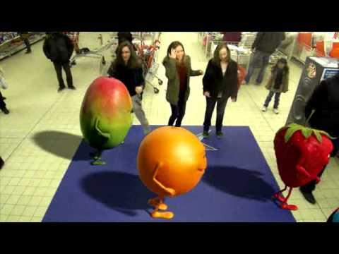 Oasis Fruit Tour - Marine Mariette  Marianne - Auchan - Cergy