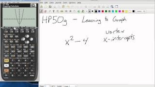 HP50g - Graphing an Equation