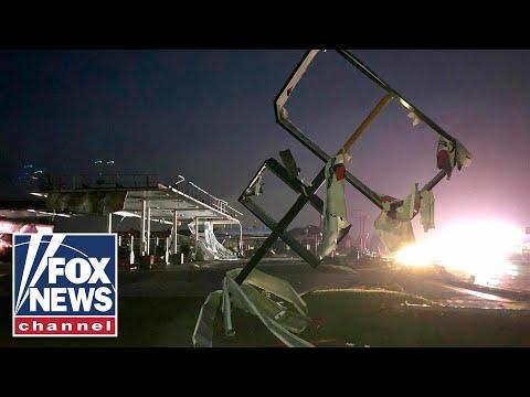 Violent tornado rips through Missouri capital