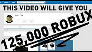 How To Get Free 125,000 on Roblox No Waiting and No Inspect Unpatched For 2017