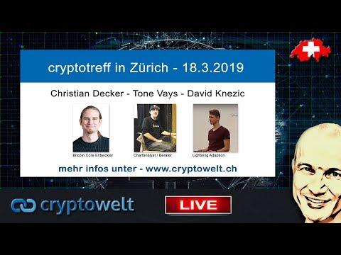 Cryptotreff mit Tone Vays / Christian Decker / David Knezic