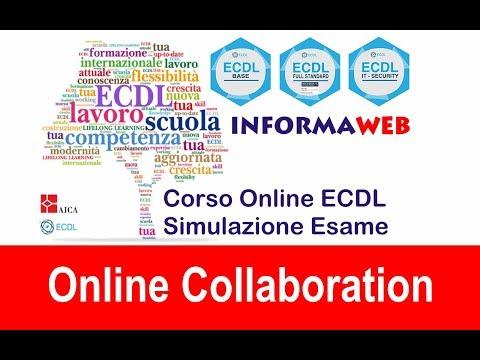 Simulazioni Esami Nuova ECDL Modulo 7 Online Collaboration Google Suite Simulatore AICA Syllabus