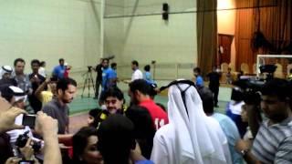 Diego Maradona Kicking penalties in Dubai