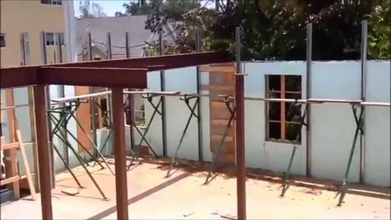 Duplex roof - installation of the roof