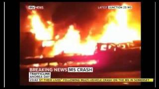 M5 Crash Footage - Sky News Coverage 04/11/2011 BREAKING NEWS PILE-UP