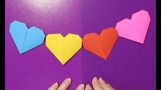 Как сделать сердце бумага гирлянда❤Подарок для мамы ко дню матери. Поделки своими руками на 8 Марта.