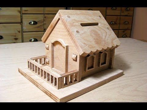 Making A Bird House (Donation Box)   Woodworking