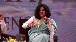 Tabish Khair, Nazia Erum, and Abdullah Khan at Kolkata Literary Meet 2019