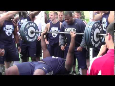Defensive lineman Tarow Barney impresses on the bench press (video)