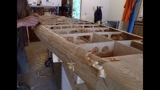 Building a Wooden Paddle Board - Part 6: Leash Plug Blocks and Deck Glueing