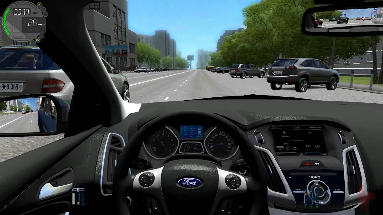 city car driving ford focus 3 sedan youtube. Black Bedroom Furniture Sets. Home Design Ideas