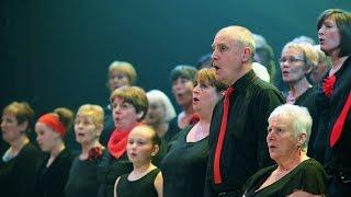 The Royal Opera House Thurrock Community Chorus performing at