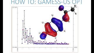 Avogadro with GAMESS-US: Optimization