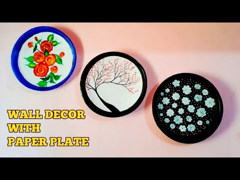 Diy wall decor|wall hanging|thermocol plate craft|paper plate painting