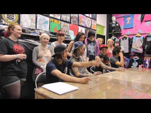 Pierce The Veil In Store Signing At Pulp Manchester 3rd June 2013