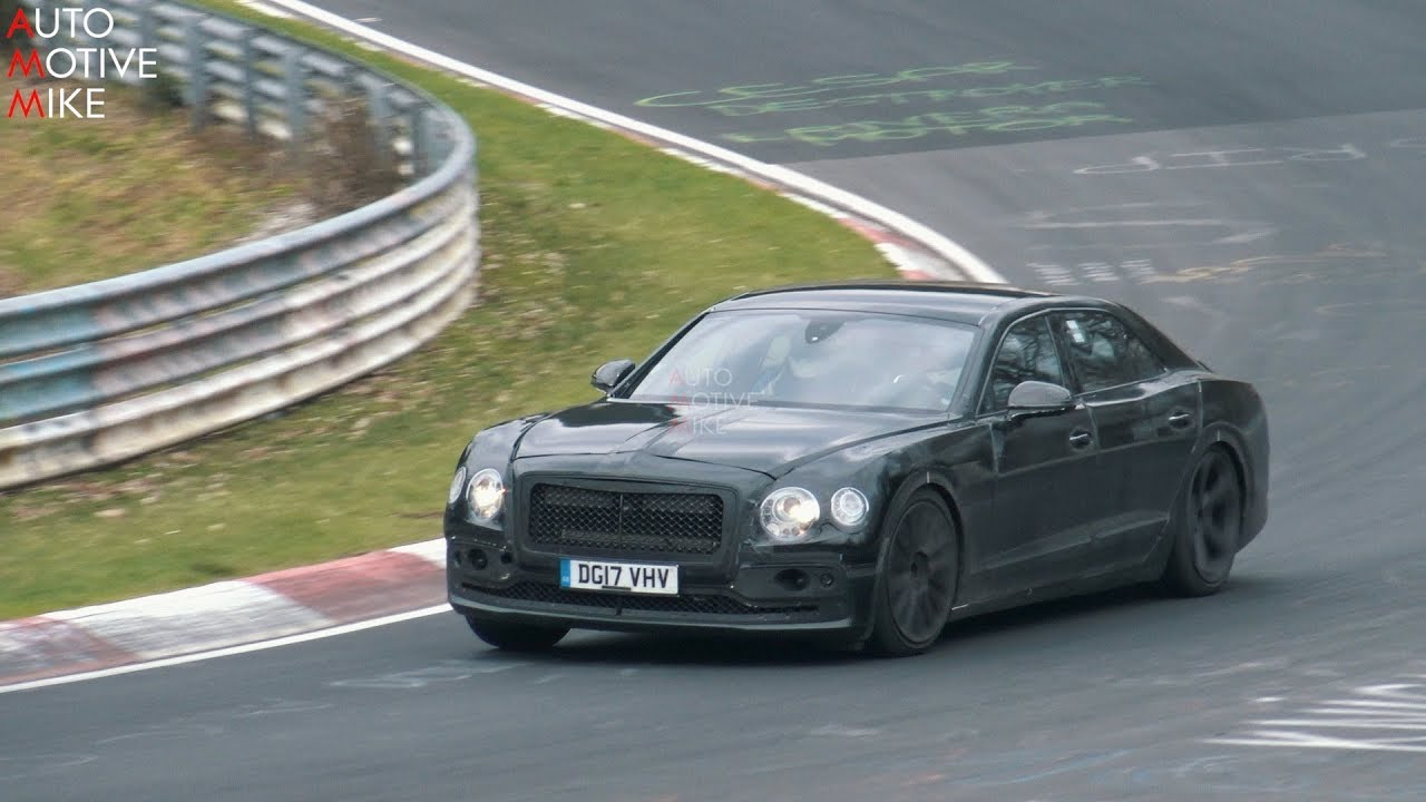 2020 Bentley Flying Spur Spied Testing At The Nurburgring Youtube