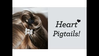 Heart Pigtails (LuvPiggies) | Valentine's Day | Cute Girls Hairstyles