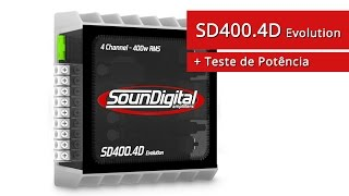 Módulo Amplificador Soundigital SD400.4D Evolution + Teste Potência Alto Falante - SOMSC.com.br