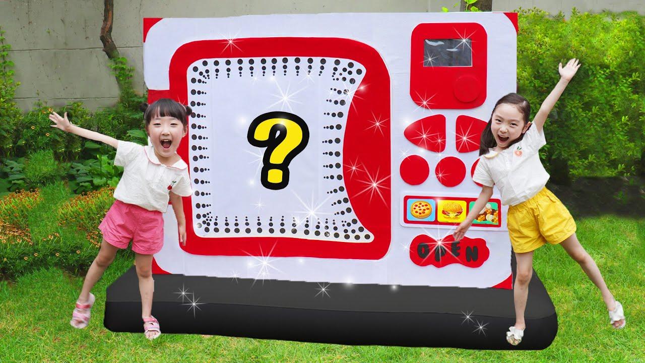 거대 전자레인지 장난감이 나타났다!! 초거대 전자레인지에서 무엇이 나올까?pretend play with giant toy microwave-마슈토이 Mashu ToysReview