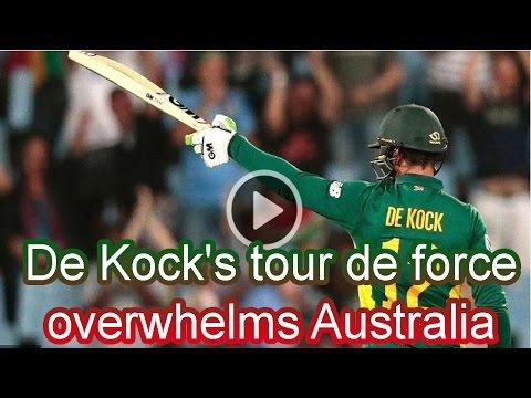 ►►► Sports News  ✱ De Kock's tour de force overwhelms Australia ✱  South Africa v Australia 1st ODI