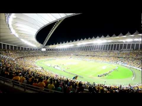South African National Anthem Bafana Bafana at Moses Mabhida Stadium