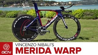 Vincenzo Nibali's Merida Warp TT Team Bike