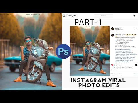 photoshop scooty photo editing tutorial - instagram viral photo editing tutorial | R4S thumbnail
