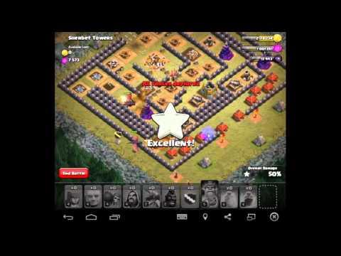 hướng dần làm nhiệm vụ cuối cùng của Attack Clash of clan ( Với Bộ Lính hall 7 )