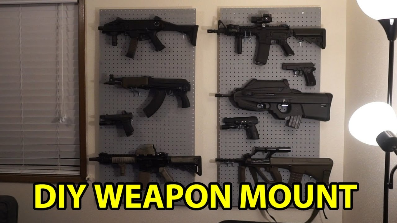How To Weapons Wall Mount Youtube