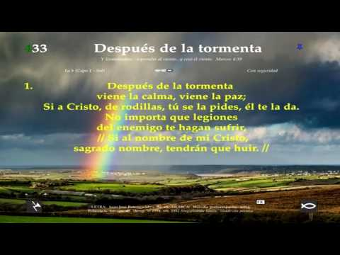 Himno 433 Despues de la tormenta Video, pista y letra