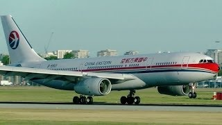 China Eastern Airlines A330-243 Vancouver YVR Evening Arrival [HD]