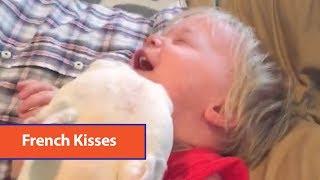 French Bulldog's Kisses Make Baby Laugh